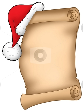 Santa Claus wish list stock photo, Santa Claus wish list - color illustration. by Klara Viskova