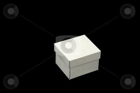 Box stock photo, Pictures of a square and white cardboard box by Albert Lozano