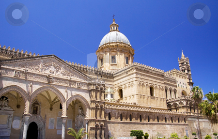 Cathedral of Palermo stock photo, Cathedral of Palermo in Italy build in various styles from Gothic to barogue by Daniel Kafer