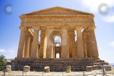 Valley of the temples stock photo, Valley of the temples are Greek style ruins at Agrigento in Sicily Italy by Daniel Kafer