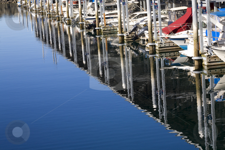 Marina Reflections Boats Edmonds Washington stock photo, Boats Dock Ocean Reflections, Marina, Edmonds, Washington. Without trademarks. by William Perry