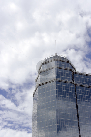 Glass Tower stock photo, A round architectural glass office building tower by Kevin Tietz