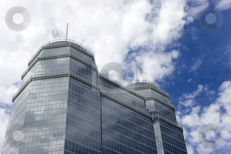 Large Glass Building stock photo, A large glass building with two spires by Kevin Tietz