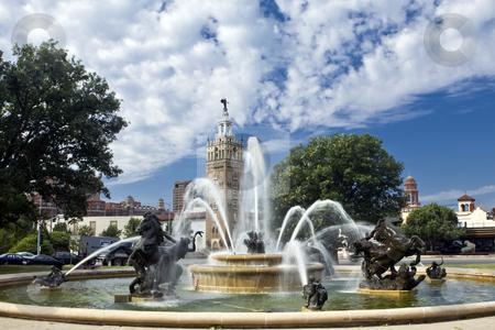 J.C. Nichols Fountain stock photo, J.C. Nichols Fountain in the Plaza district of Kansas City by Bart Everett