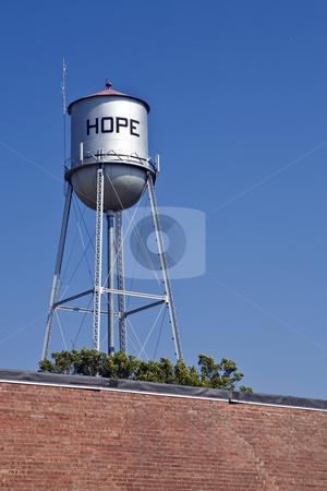 Hope Water Tower stock photo, Water tower in Hope, Kansas by Bart Everett