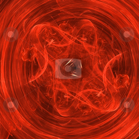 Abstract background. Red - orange palette. stock photo, Abstract background. Red - orange palette. Raster fractal graphics. by Andrey Khritin