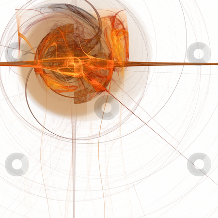 Abstract background. Orange - white palette. stock photo, Abstract background. Orange - white palette. Raster fractal graphics. by Andrey Khritin