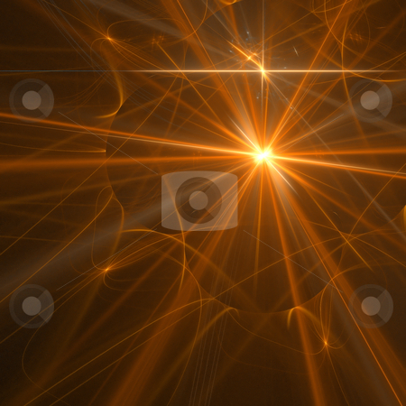 Abstract background. Orange - yellow palette. stock photo, Abstract background. Orange - yellow palette. Raster fractal graphics. by Andrey Khritin