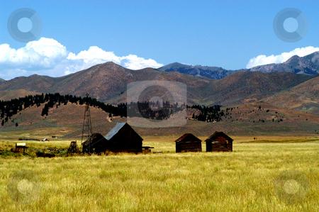 Abandoned Ranch in Camas County stock photo, Idaho, Camas County, Farm by David Ryan