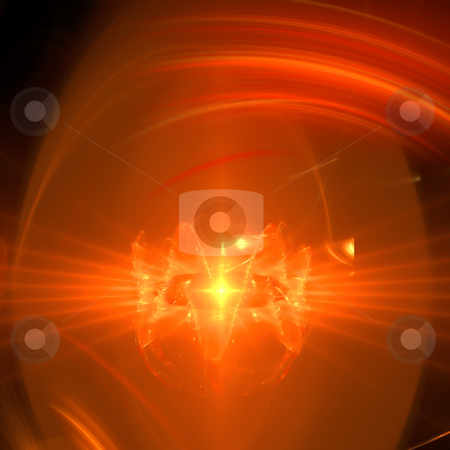 Abstract background. Orange - black palette. stock photo, Abstract background. Orange - black palette. Raster fractal graphics. by Andrey Khritin