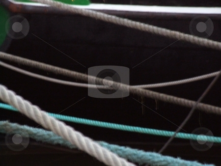Ship Ropes stock photo, Ship Ropes by Stephen Lambourne
