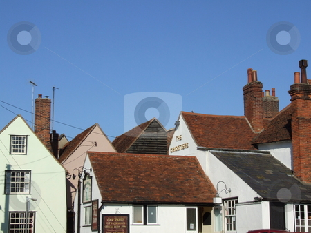 Tiled Roof Tops of Old Houses stock photo, Tiled Roof Tops of Old Houses by Stephen Lambourne