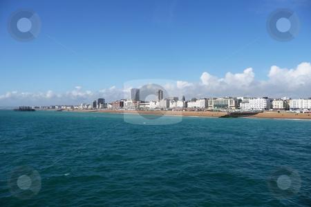 Brighton Coast  stock photo, A view of the coastline of Brighton in England. by Chris Harvey