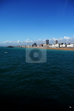 Brighton Coast  stock photo, A view of the coastline of Brighton in England. by Chris Harvey
