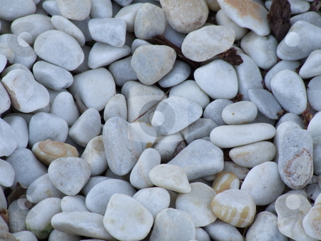 White Pebbles Stones stock photo, White Pebbles Stones by Stephen Lambourne