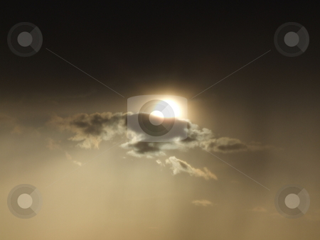 Heavy Cloud Cover with Sun Background stock photo, Heavy Cloud Cover with Sun Background by Stephen Lambourne