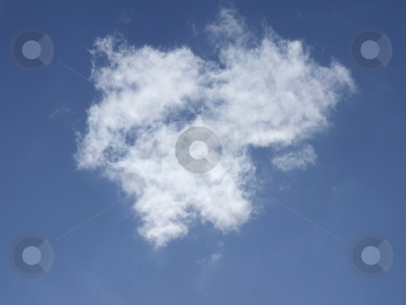 Blue Sky and Puffy White Cloud stock photo, Blue Sky and Puffy White Cloud by Stephen Lambourne