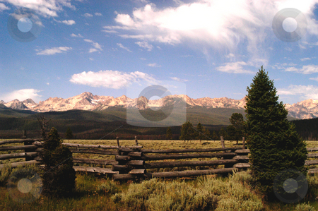 Sawtooth Mountains stock photo, Idaho, Custer County, Sawtooth Mountains by David Ryan