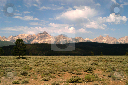 Sawtooth Mountains stock photo, Idaho, Custer County, Sawtooth Mountains by David Ryan