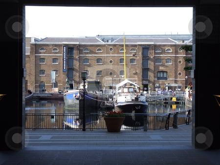 Building Opening With Boats Background stock photo, Building Opening With Boats Background by Stephen Lambourne