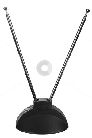 Antenna Isolated stock photo, A close up on an isolated TV antenna. by Travis Manley