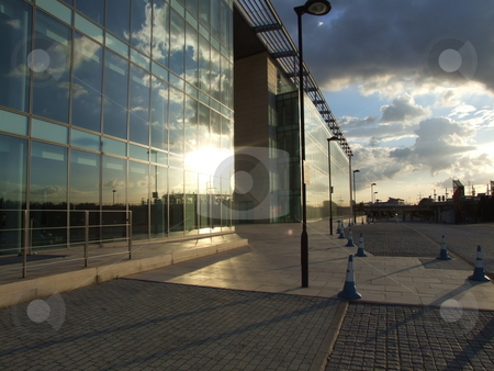 Modern Glass Building and Sky Reflection stock photo, Modern Glass Building and Sky Reflection by Stephen Lambourne