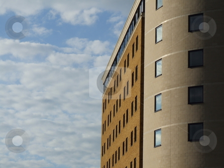 Large Building Cloudy Sky stock photo, Large Building Cloudy Sky by Stephen Lambourne
