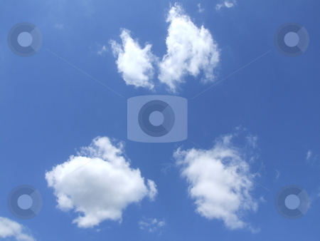 White Puffy Clouds Blue Sky stock photo, White Puffy Clouds Blue Sky by Stephen Lambourne