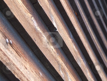 Wooden Slatted Boards Abstract stock photo, Wooden Slatted Boards Abstract by Stephen Lambourne