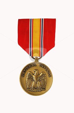 National Defense Service Medal stock photo, National Defense Service Medal by James Barber