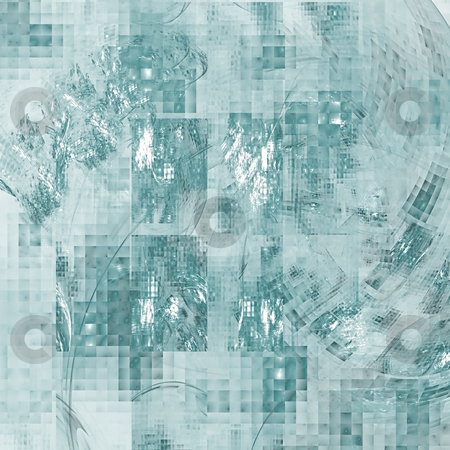 Abstract background. Blue - white palette. stock photo, Abstract background. Blue - white palette. Raster fractal graphics. by Andrey Khritin