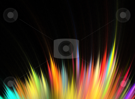 Rainbow Fractal Feathers stock photo, Abstract fractal artwork that makes a great high tech art element or background for any design project. by Todd Arena