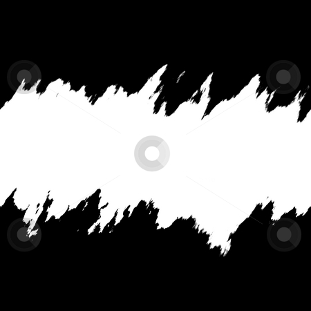 Ripped and Torn Layout stock photo, Torn layout in black and white with copyspace. by Todd Arena