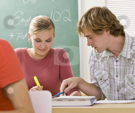 Students studying together in classroom stock photo, Students studying together in classroom by Jonathan Ross