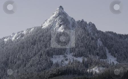 SNOW MOUNTAIN SNOQUALME PASS WASHINGTON stock photo, Snow Mountain Snoqualme Pass Washington by William Perry