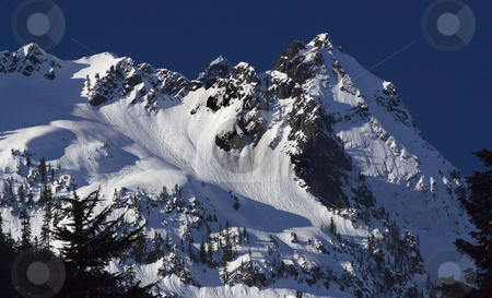 Snoqualme Pass, Denny Mountain, Alpental, Washington stock photo, Snowy Denny Mountain, Alpental, Snoqualme Pass, Washington.  The sking is great. by William Perry