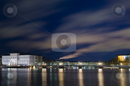 National museum stock photo, The national museum by night by Fredrik Elfdahl
