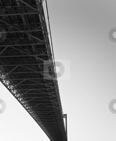 Bridge stock photo, Iron bridge and sky by Fredrik Elfdahl