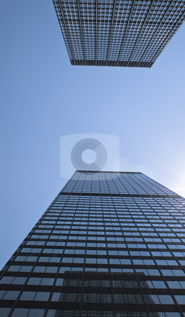 View of two skyscrapers stock photo, View of two skyscrapers by Fredrik Elfdahl