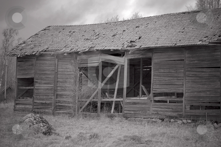 Barn stock photo, A ramshackle barn by Fredrik Elfdahl