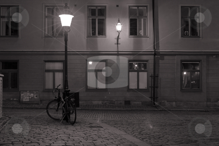Bicycle in Old town stock photo, A bicycle in old town by Fredrik Elfdahl