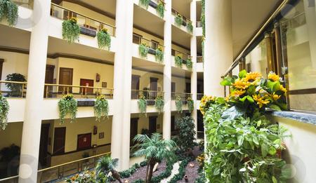 Hotel garden stock photo, A hotel garden inside by Fredrik Elfdahl