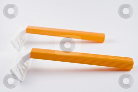 Safety razor stock photo, Two safety razors by Fredrik Elfdahl