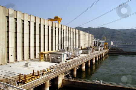 Iron Gate 1 stock photo, Romania/Serbia, Iron Gate 1 Hydro Electric Dam, Danube River by David Ryan