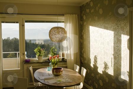 Livingroom stock photo, A livingroom with chair and sofa by Fredrik Elfdahl