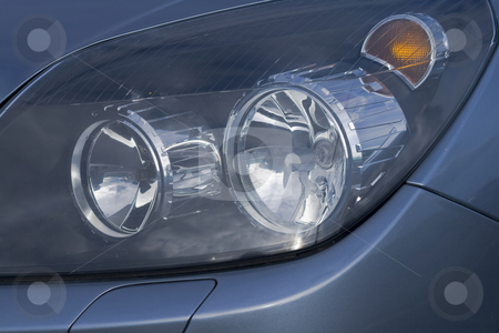 Car headlights in a close up stock photo, Car headlights in a close up by Fredrik Elfdahl