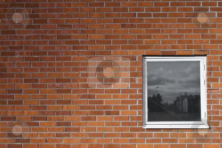 Brickwall and a window stock photo, Brickwall and a window by Fredrik Elfdahl
