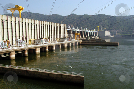 Iron Gate 1 stock photo, Romania/Serbia, Iron Gate 1 Hydro Electric Dam, Danube River by David Ryan