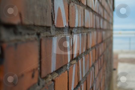 Wall stock photo, Wall with grafitti by Fredrik Elfdahl