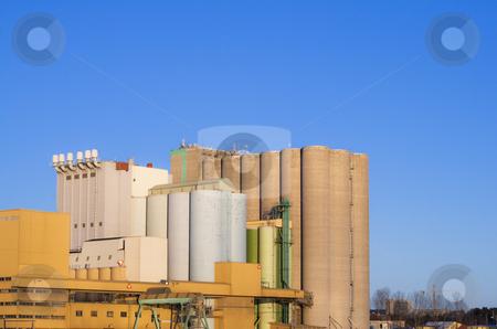 Silos stock photo, Big buildings and silos by Fredrik Elfdahl